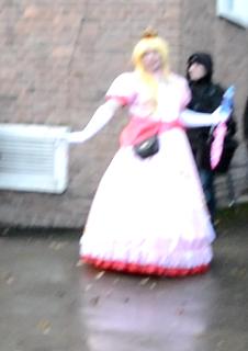 Daniel as Princess Peach.
