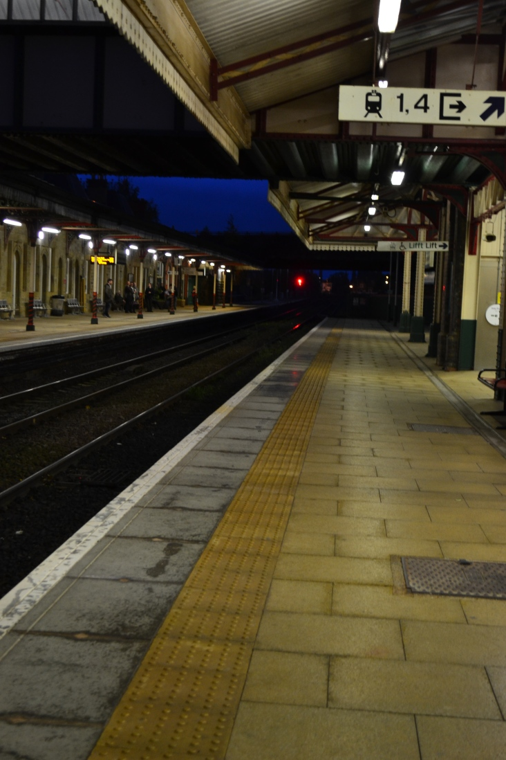 Got there too early, to an empty station