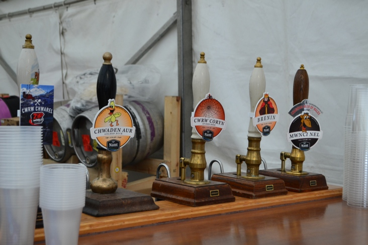 Alcohol on tap in the beer tent