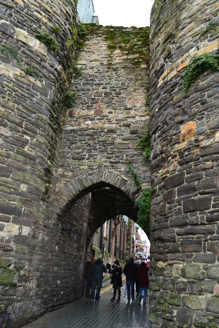 Entrance to the town built into the castle walls