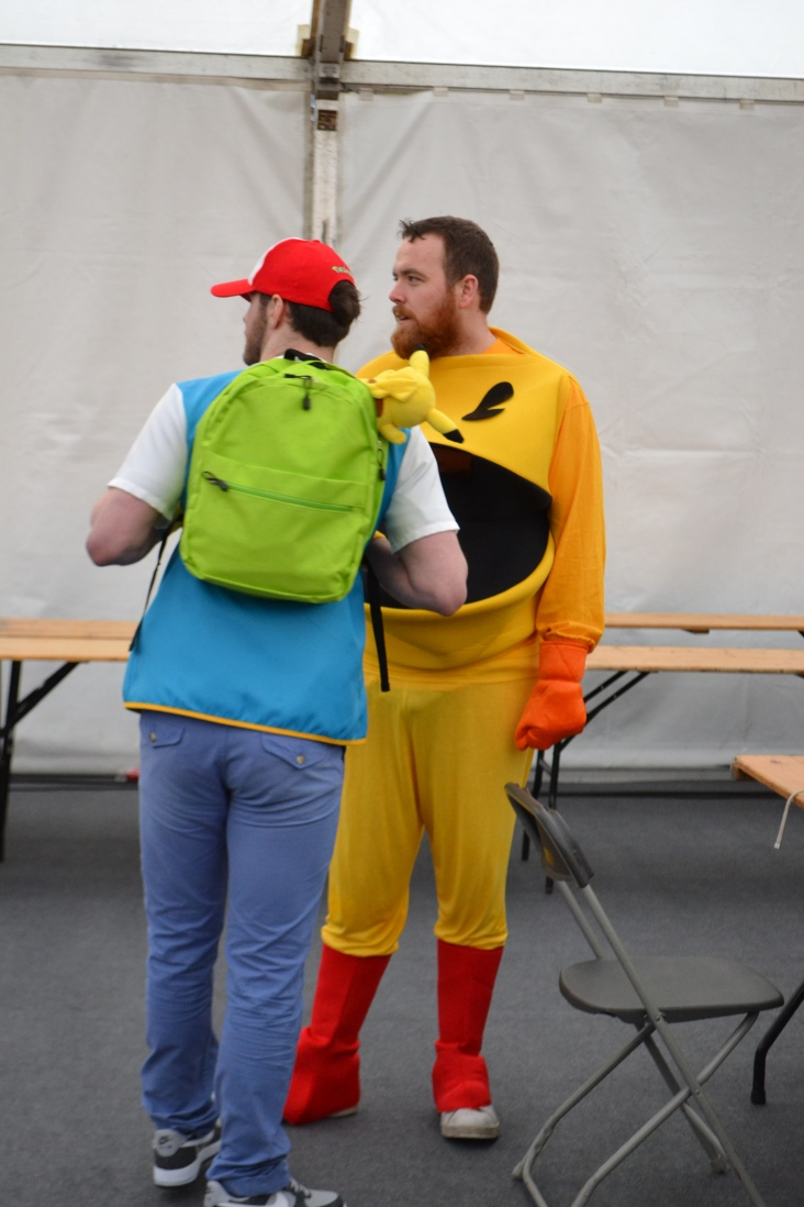 Ash Ketchum and Pac-Man... odd team - only ever found at Comic Con