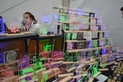 LED lit holographs made of glass