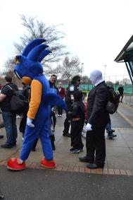 Sonic the Hedgehog and... Slenderman?